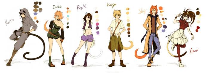 ATDK - main characters by Skizocrilian