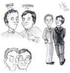 Fry and Laurie - Cartoon by Tabascofanatikerin