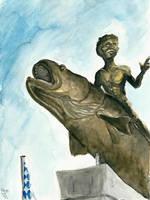 The Statue of Aenus by Tabascofanatikerin