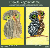 Draw this again! Meme: An Owl by Tabascofanatikerin