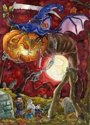 Halloween Wolpertinger by Tabascofanatikerin
