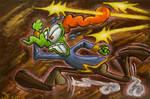 Art Trade: Running Smirk (for Themrock) by Tabascofanatikerin
