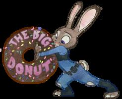 Judy Hopps - Have a donut, Coppa! by Tabascofanatikerin