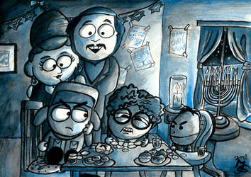 Hanukkah at Broflovski's by Tabascofanatikerin