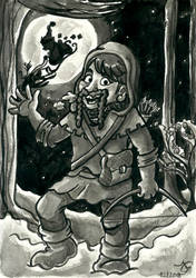 Dwoiz the Dwarf in Winter (Dungeons and Dragons) by Tabascofanatikerin
