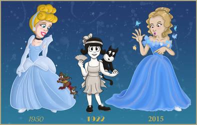 All the Disney Cinderellas by Tabascofanatikerin