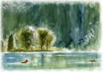 Koenigssee in aqua colours by Tabascofanatikerin