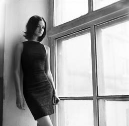 Miroslava near the window by psychiatrique