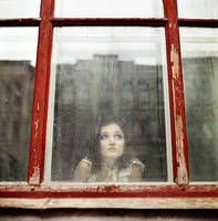 Miroslava through the glass by psychiatrique