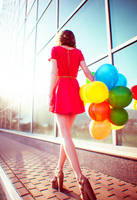 Girl with Balloons by psychiatrique