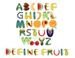Fruit Alphabet Typography by foredasia