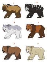 Adopt a Bear - All Taken by PrinzeBurnzo