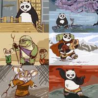 My Kung Fu Panda storyboard by PrinzeBurnzo