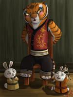 Tigress Struggles by PrinzeBurnzo
