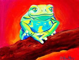 Tree Frog by dawgart