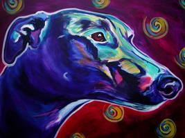 Greyhound by dawgart