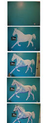 Horse Mural Progression by dawgart