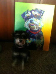 Charley and her portrait by dawgart