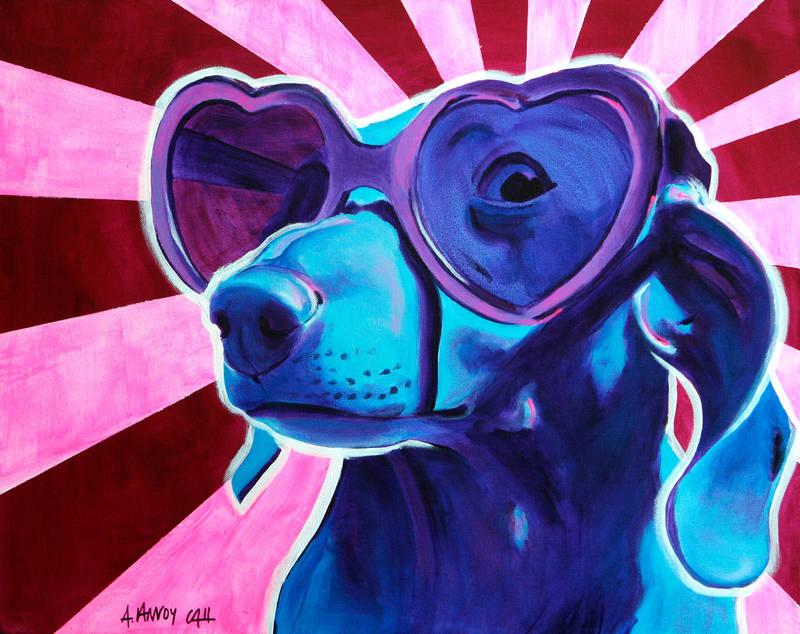 Puppy Love by dawgart