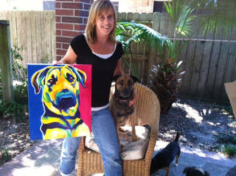 Shayla And Portrait by dawgart