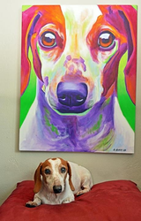Cooper and his painting by dawgart
