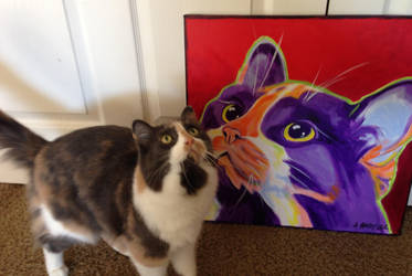 Issa and her portrait by dawgart