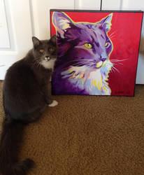Kelsier and his portrait by dawgart