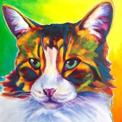 Sunflower Cat by dawgart