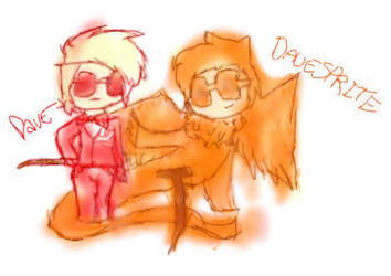 Dave and Davesprite by frogsdolphins