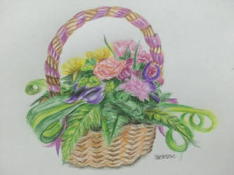 Floral Arrangement Colour Pencil 7 by SXerosere
