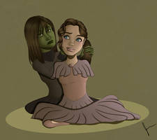 Elphaba and Nessarose by TheJenjineer
