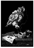 Owl Linocut by PolarMaya