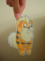 Paper Child Growlithe by Naminex3