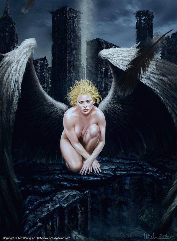 Mourning Angel by Ilacha