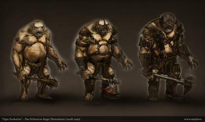 The Dark Eye: Demonicon - Ogre by Aeyolscaer