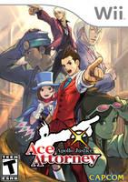 Apollo Justice: Ace Attorney Wii Boxart by Dollarluigi