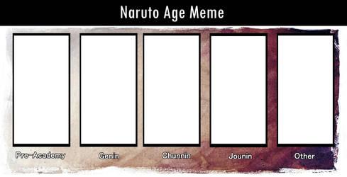 Naruto Age Meme (blank) by AkumaRyoshi