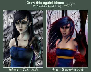 Draw Again Meme! - Naruto OC Charlotte by AkumaRyoshi