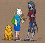 Jake, Finn and Marceline by massgrfx