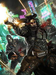 SR5 Cover Art: Hard Targets by django-red