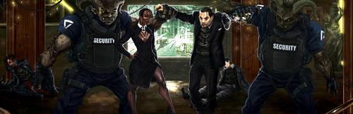 SR5 Boardroom Battle by django-red