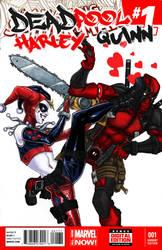 Deadpool Hearts Harley by django-red
