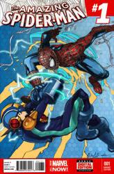 Spiderman Vs Megaman by django-red