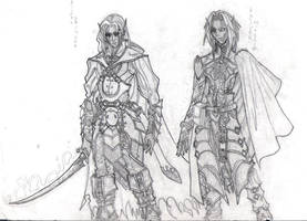 drizzt and pharaun 03' by django-red