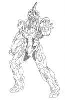 Prometheus Guyver Line Art by rhardo