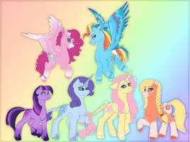 The Mane Six by TidaIWave
