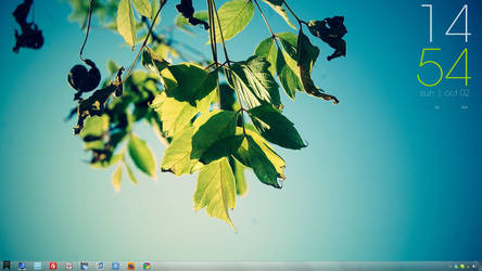 Windows 7 October Desktop by byobeach