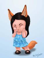 Chibi Fox by TheFieryLantern