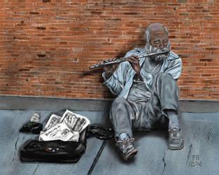 The Flutist by Belote-Art