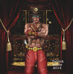 Steampunk Dude with Background by Belote-Art